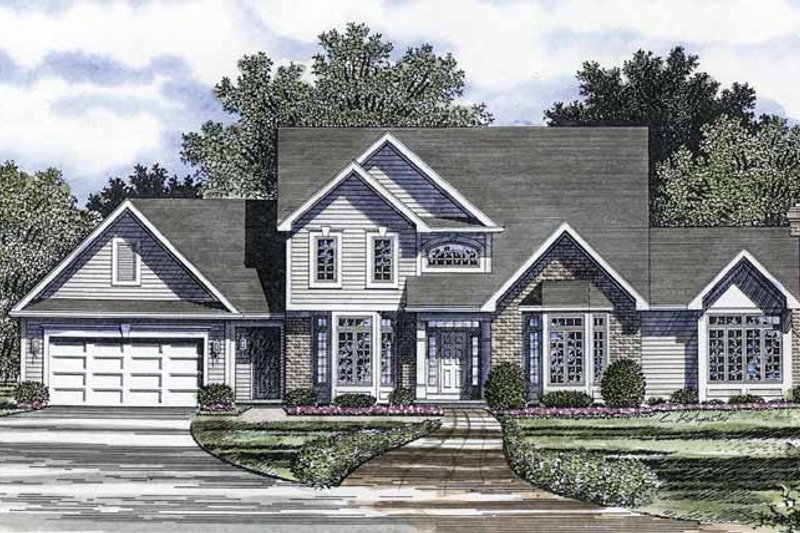 Traditional Exterior - Front Elevation Plan #316-225 - Houseplans.com