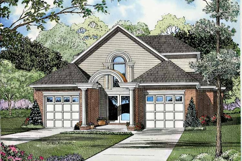 Architectural House Design - Traditional Exterior - Front Elevation Plan #17-3059