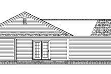 Craftsman Exterior - Rear Elevation Plan #17-2751