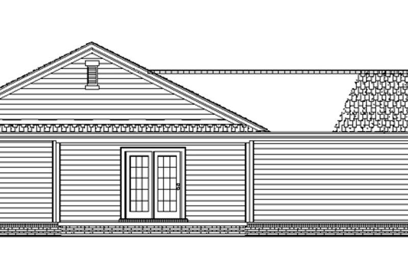 Craftsman Exterior - Rear Elevation Plan #17-2751 - Houseplans.com