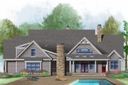 Ranch Style House Plan - 4 Beds 3 Baths 2909 Sq/Ft Plan #929-1016 Exterior - Rear Elevation