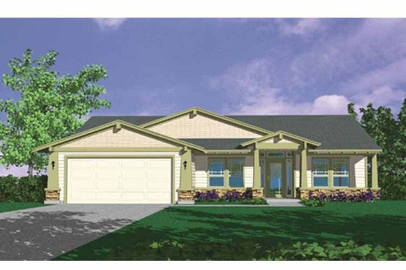 Prairie Exterior - Front Elevation Plan #509-245