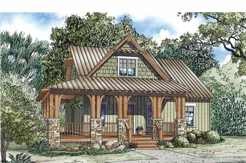 Country Exterior - Front Elevation Plan #17-3345 - Houseplans.com