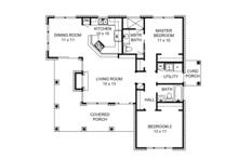 Country Floor Plan - Main Floor Plan Plan #140-165