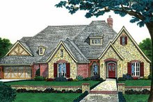 Country Exterior - Front Elevation Plan #310-1193