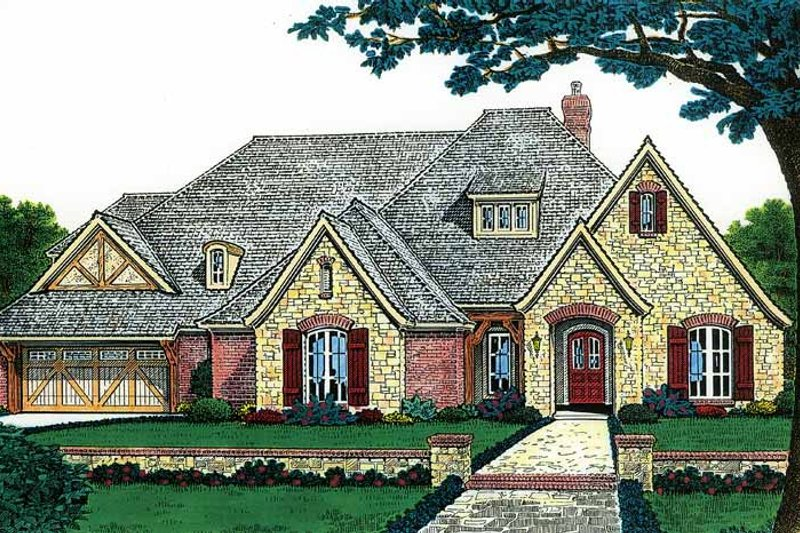 Country Exterior - Front Elevation Plan #310-1193 - Houseplans.com