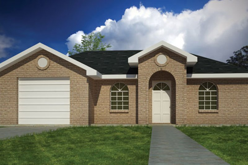Ranch Exterior - Front Elevation Plan #1061-28 - Houseplans.com