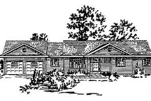 House Blueprint - Ranch Exterior - Front Elevation Plan #18-154