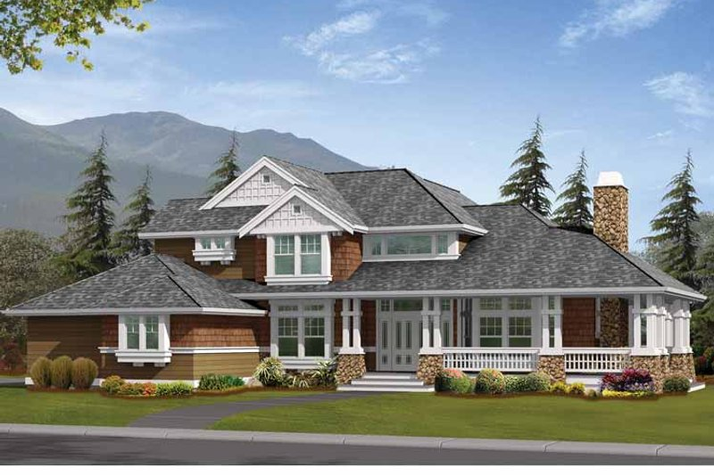 Craftsman Exterior - Front Elevation Plan #132-233 - Houseplans.com