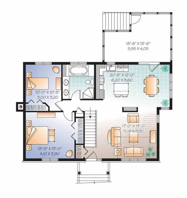 Colonial Floor Plan - Main Floor Plan Plan #23-2521