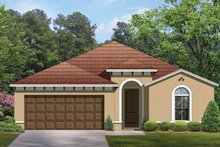 Home Plan - Mediterranean Exterior - Front Elevation Plan #1058-54
