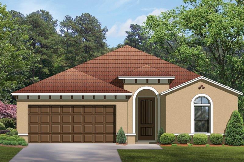 House Plan Design - Mediterranean Exterior - Front Elevation Plan #1058-54