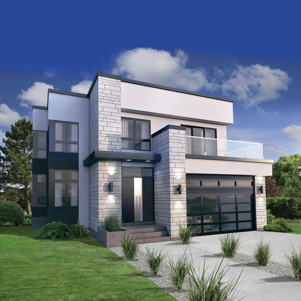 Modern House: 3 Beds 2.5 Baths 2370 Sq/Ft Plan