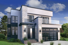 Architectural House Design - Modern Exterior - Front Elevation Plan #25-4415