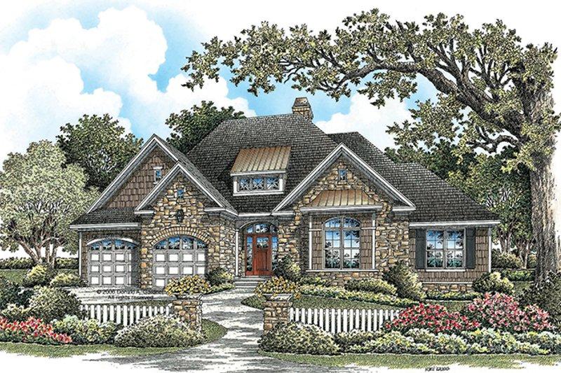 Craftsman Exterior - Front Elevation Plan #929-923