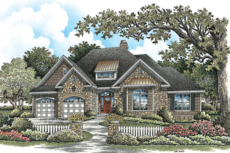 Craftsman Exterior - Front Elevation Plan #929-923
