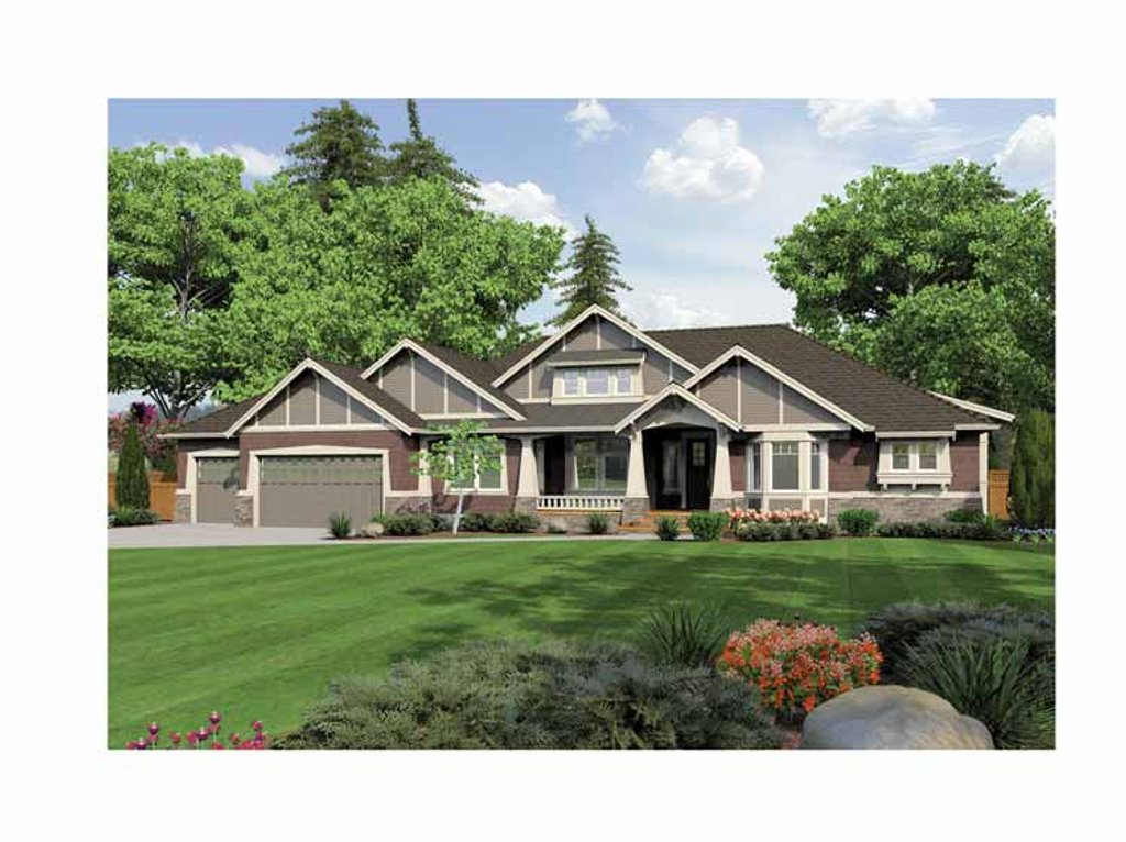 Ranch style house plan 3 beds 3 5 baths 3935 sq ft plan for Rambler house vs ranch house
