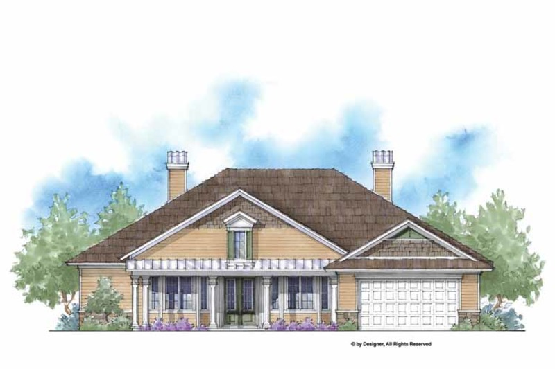 Country Exterior - Front Elevation Plan #938-54 - Houseplans.com
