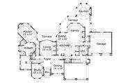 European Style House Plan - 4 Beds 3.5 Baths 4773 Sq/Ft Plan #411-288 Floor Plan - Main Floor Plan