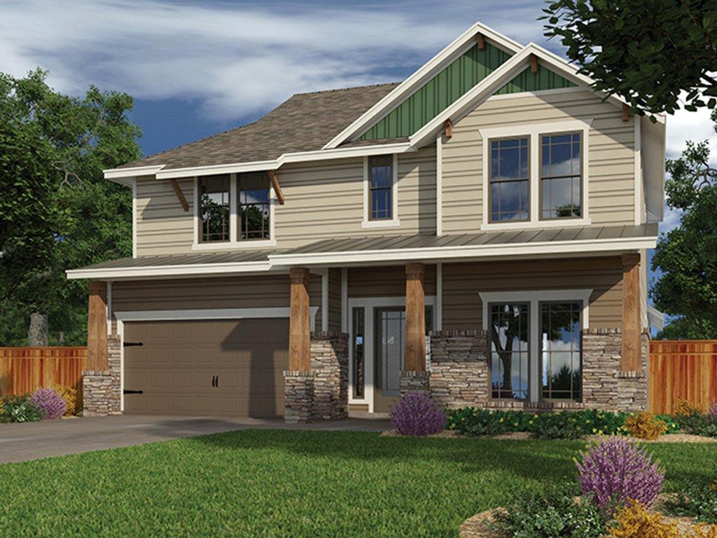 Craftsman Exterior - Front Elevation Plan #472-437