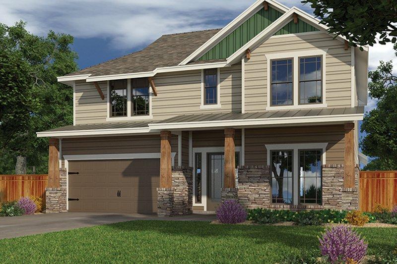 Architectural House Design - Craftsman Exterior - Front Elevation Plan #472-437