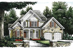 Dream House Plan - Traditional Exterior - Front Elevation Plan #927-245