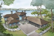 Contemporary Style House Plan - 4 Beds 4.5 Baths 6717 Sq/Ft Plan #928-261 Exterior - Front Elevation
