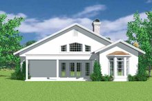 House Plan Design - European Exterior - Rear Elevation Plan #72-1136