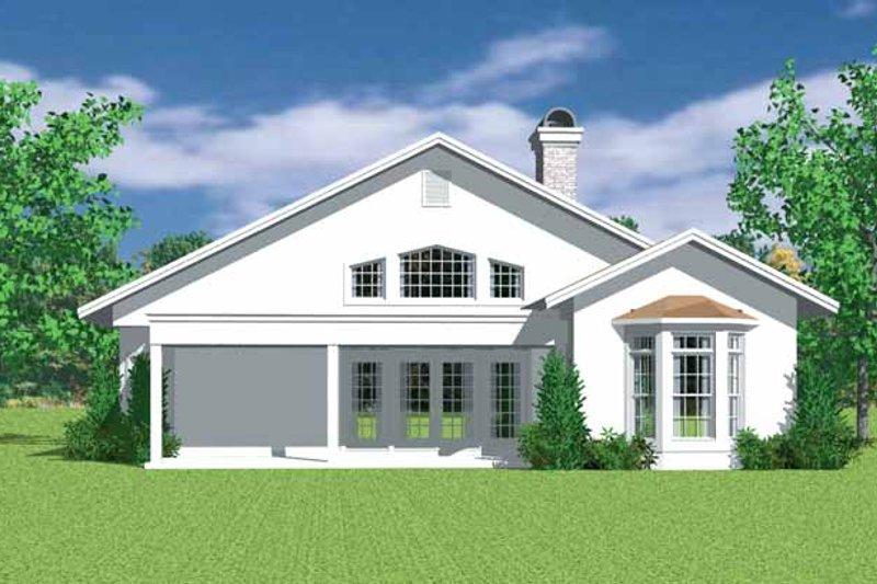 European Exterior - Rear Elevation Plan #72-1136 - Houseplans.com