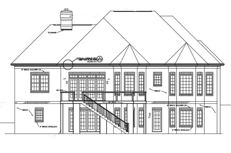 Traditional Exterior - Rear Elevation Plan #453-568 - Houseplans.com