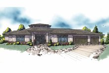 Prairie Exterior - Front Elevation Plan #509-386