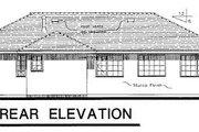 European Style House Plan - 3 Beds 3 Baths 1904 Sq/Ft Plan #18-118 Exterior - Rear Elevation
