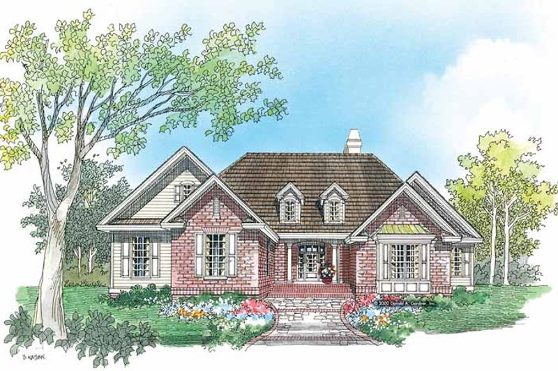Ranch Exterior - Front Elevation Plan #929-582