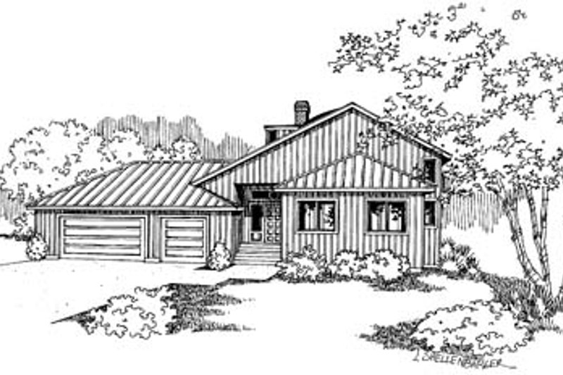 Traditional Exterior - Front Elevation Plan #60-577 - Houseplans.com