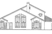 House Blueprint - Mediterranean Exterior - Rear Elevation Plan #72-163