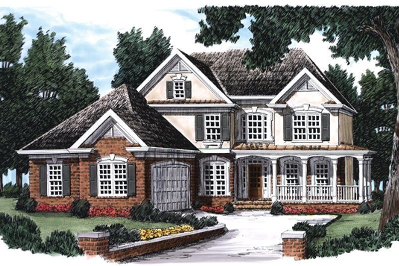 Country Exterior - Front Elevation Plan #927-88