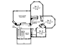Country Floor Plan - Upper Floor Plan Plan #930-56