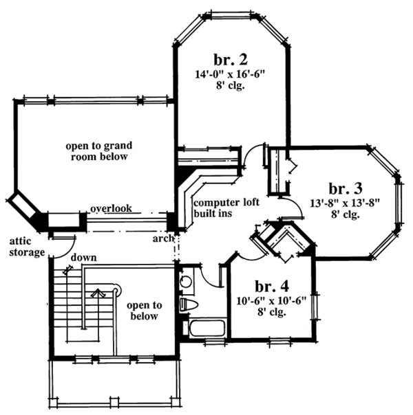 Country Floor Plan - Upper Floor Plan Plan #930-56