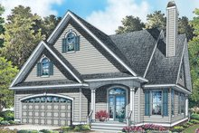 Dream House Plan - Colonial Exterior - Front Elevation Plan #929-989