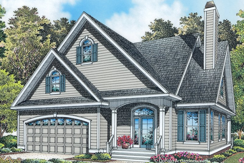 Architectural House Design - Colonial Exterior - Front Elevation Plan #929-989