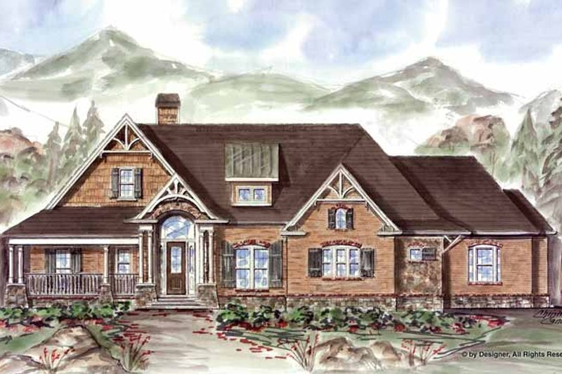 Ranch Exterior - Front Elevation Plan #54-361