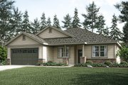 Ranch Style House Plan - 3 Beds 2 Baths 2017 Sq/Ft Plan #124-1029 Exterior - Front Elevation