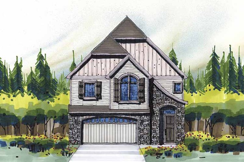 Craftsman Exterior - Front Elevation Plan #509-316 - Houseplans.com