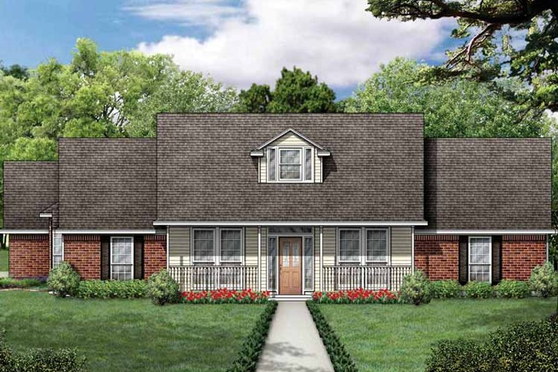 Traditional Exterior - Front Elevation Plan #84-704 - Houseplans.com