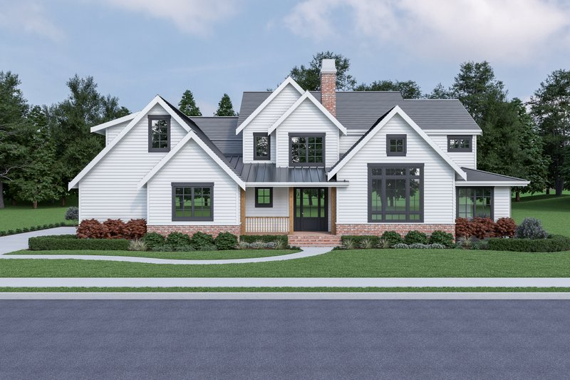Farmhouse Style House Plan - 3 Beds 3 Baths 2335 Sq/Ft Plan #1070-92 Exterior - Front Elevation