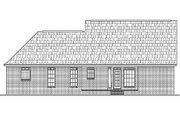 Colonial Style House Plan - 3 Beds 2 Baths 1500 Sq/Ft Plan #430-14 Exterior - Rear Elevation
