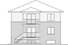 Contemporary Exterior - Rear Elevation Plan #23-2595
