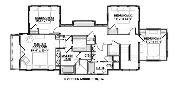 Craftsman Floor Plan - Upper Floor Plan Plan #928-272