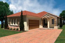 Mediterranean Exterior - Front Elevation Plan #930-429