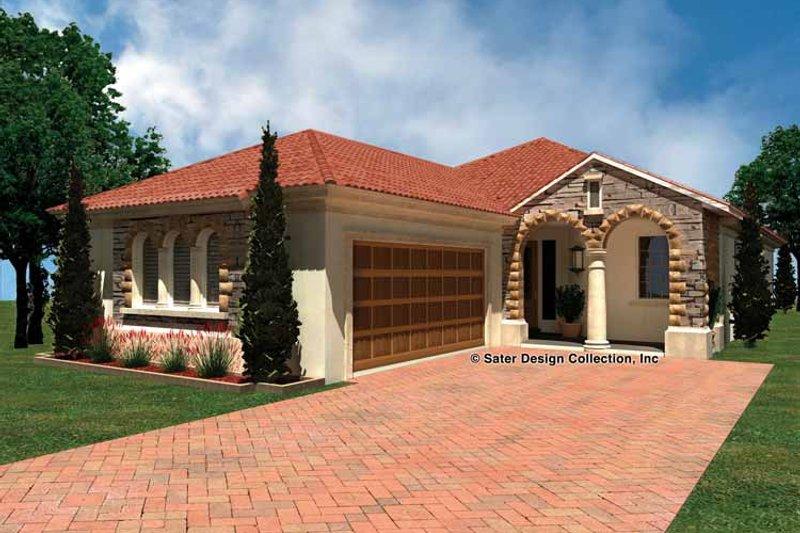 House Plan Design - Mediterranean Exterior - Front Elevation Plan #930-429